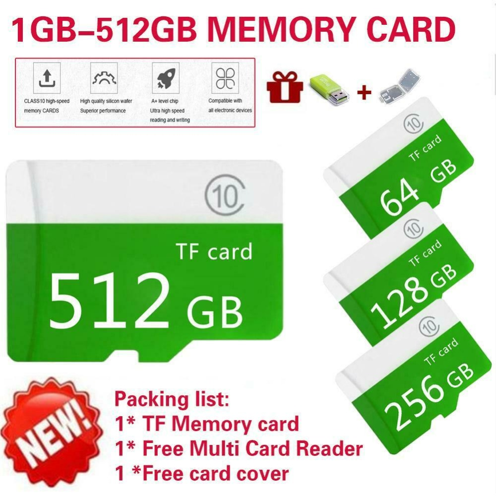 Image 2 - High speed green Large Capacity Micro SD Memory Card 4GB 512GB Class 10+Sd Tf For Mobile / PC CH micro sd card SDXC/SDHC-in Micro SD Cards from Computer & Office