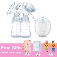 GL FDA Çift Elektrikli göğüs pompası Süt Çıkarıcı Pompası Bebek Meme Bebek Süt Emzirme Şişe USB Göğüs Büyütme Pompaları