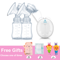 GL FDA Double Electric Breast Pump Milk Extractor Pump Infant Nipple Baby Milk Breastfeeding Bottle USB Breast Enlargement Pumps