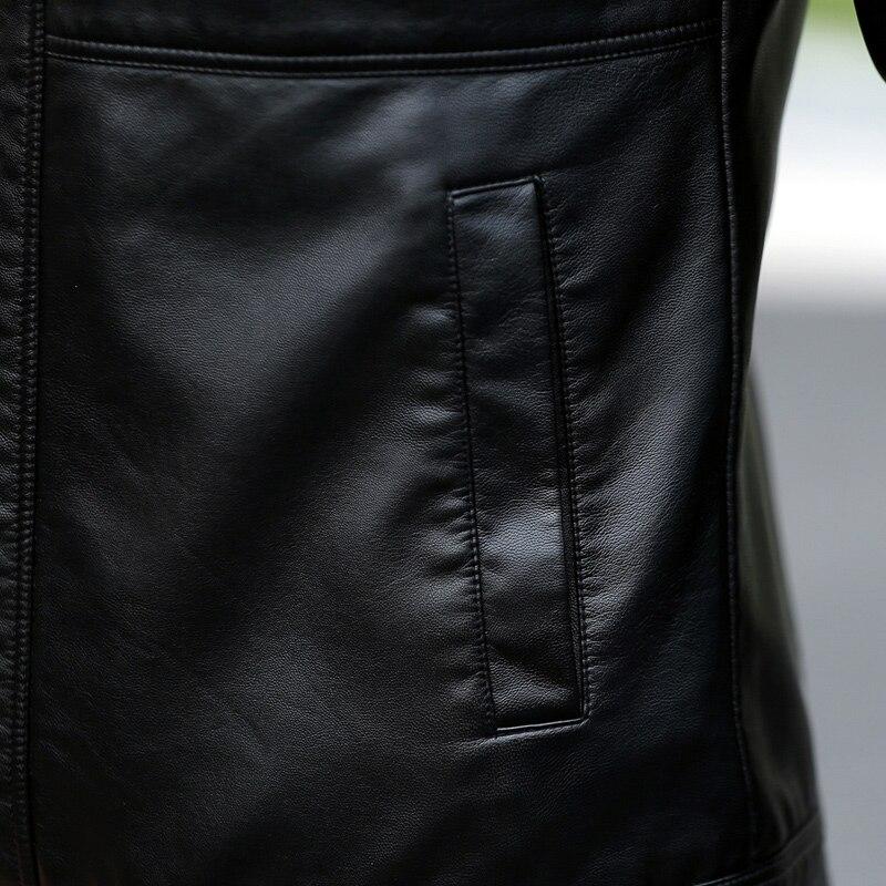 Men s leather Jacket design stand collar Coat Men casual motorcycle leather coat Mens Sheepskin jackets Men's leather Jacket design stand collar Coat Men casual motorcycle leather coat Mens Sheepskin jackets Windbreaker Coats