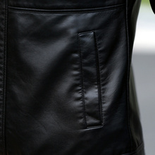 Men's leather Jacket design stand collar Coat Men casual motorcycle leather coat Mens Sheepskin jackets Windbreaker Coats