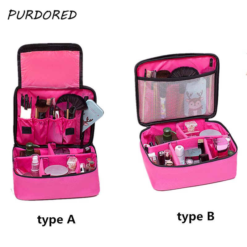 bfae786462ab PURPORED 1 pc Professional Cosmetic Bag Large Capacity Make Up Box Women  Makeup Pouch Organizer Toiletry