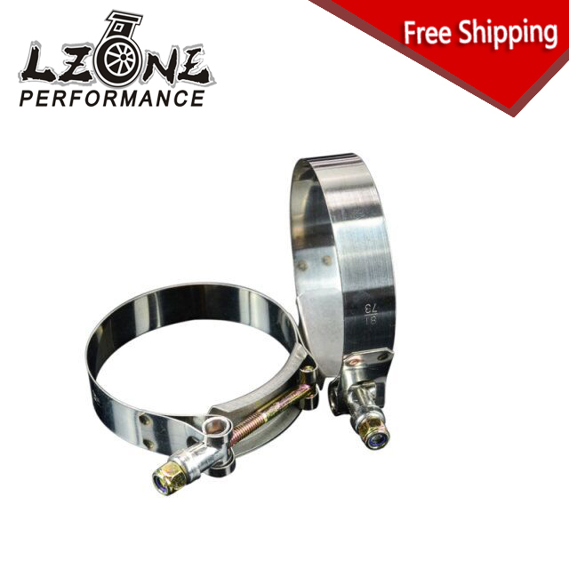 FREE SHIPPING - (2PCS/LOT) 2.75 CLAMPS (73-81)STAINLESS SILICONE TURBO HOSE COUPLER T BOLT CLAMP KIT