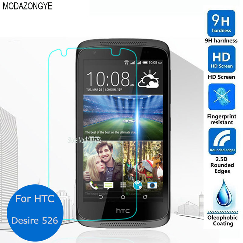 2pcs For Tempered Glass HTC Desire 526g Screen Protector For HTC Desire 526 526G D526 Dual SIM Screen Protector Protective Film