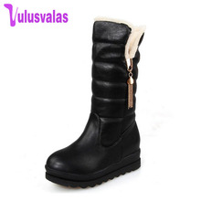 hot deal buy snow boots platform women winter shoes waterproof mid calf boots half short fur boots thickened fur botas size 33-43 k00117