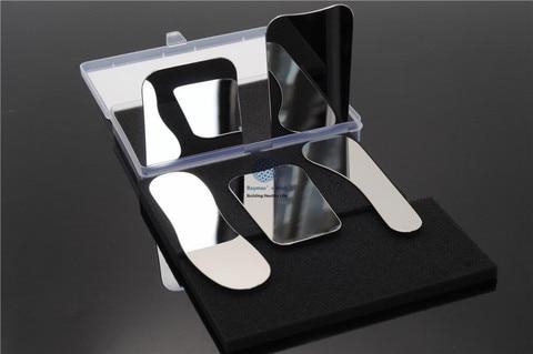 espelho de boca dental bochecha 5 pcs set clinica oral fotografica espelho refletor de aco
