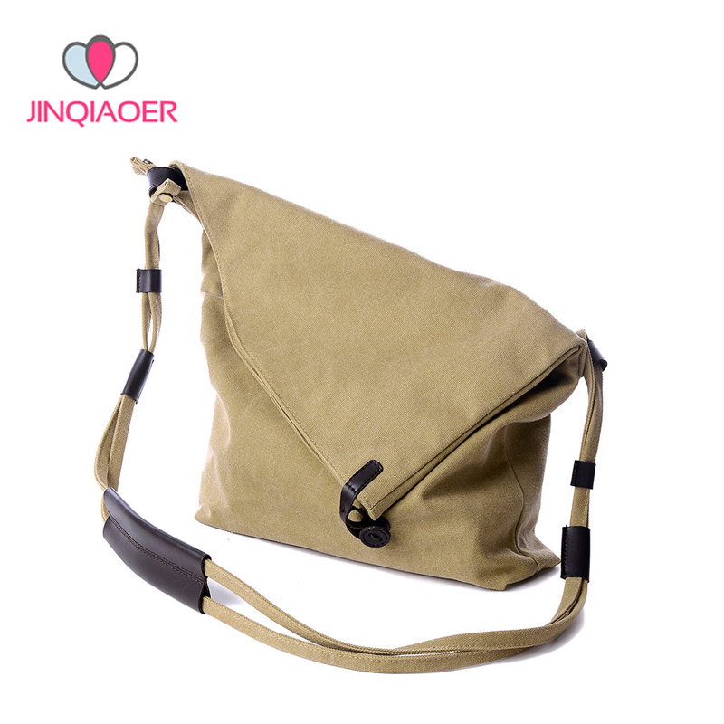 Hot Sale New Women Canvas Messenger Bags Female Vintage Shoulder Bag Ladies Crossbody Bags for Small Bucket Handbags YBB048 feral cat belt women shoulder messenger bags 2017 pvc plaid ladies handbags vintage tote crossbody briefcase female bag hot sale