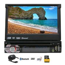 """EinCar 7"""" Touch Screen Car Stereo stereo GPS Navigation In Dash Bluetooth Single 1Din DVD CD Receiver AM FM Radio Audio System"""