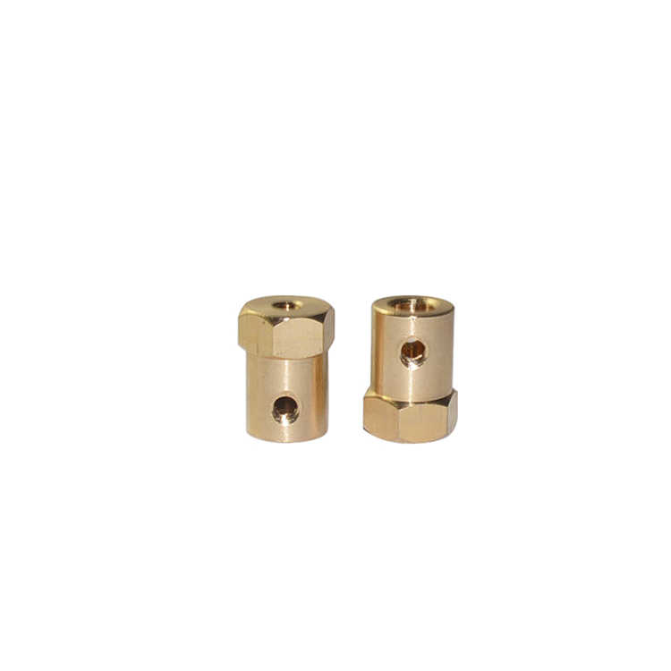 Hex coupler brass D12 L18 tire connector 2/3/3.17/4/5/6/7/ 8mm coupling for decelerate motor shaft robot smart car wheel