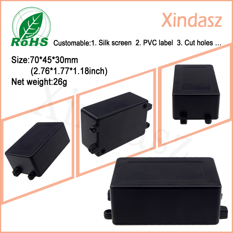 Black plastic housing 70*45*30mm 500pcs with plastic box for pbc board 105*96*35mm plastic network enclosure 150pcs фотобарабан xerox 101r00432