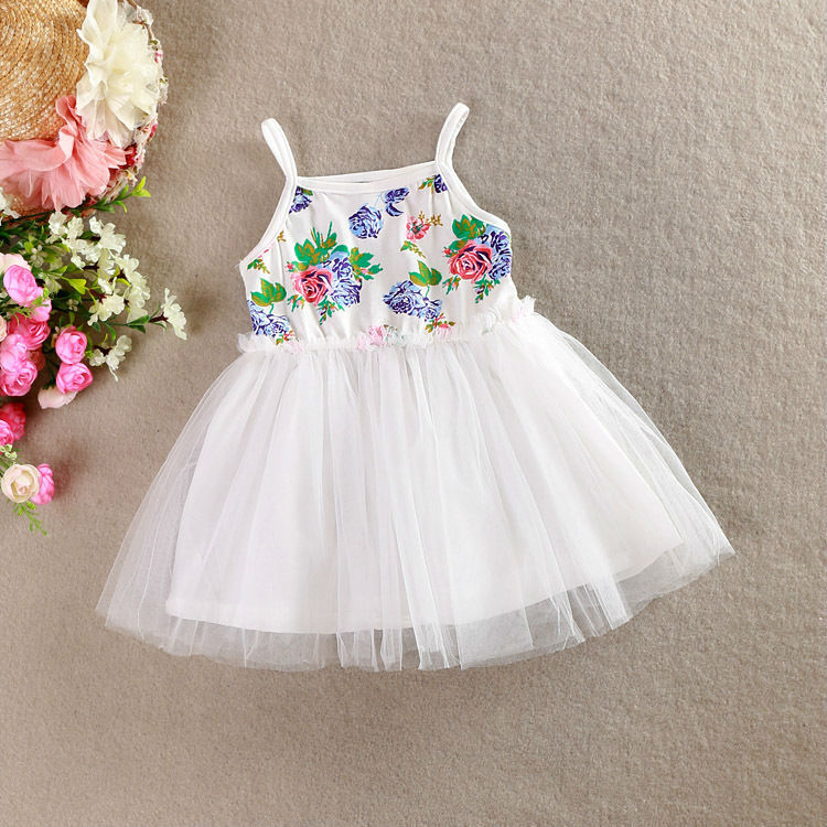 81fac6d819c06 Summer Lace Dress for Girls Cotton Infant Baby Sling Halter Flower Party  Dress Kids Girls Princess Birthday Wedding Clothes 1 6Y-in Dresses from  Mother ...
