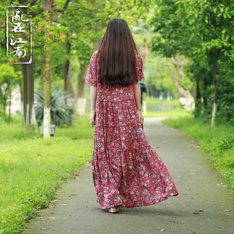 Plus Size Կանացի հագուստ Pure Robe Longue Femme Women - Կանացի հագուստ - Լուսանկար 5