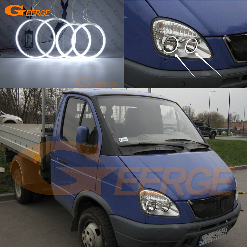 For GAZ GAZelle 3302 2003 2004 2005 2006 2007 2008 2009 Excellent Ultra bright illumination CCFL Angel Eyes kit Halo Ring gaz 6000w wbn6000 18c казань