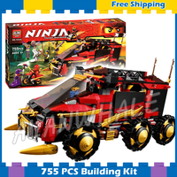 755Pcs Ninja DB X Panzer Armored Car Anacondrai Gateway Motorbike 10325 Model Building Blocks Sets Gifts Compatible With Lego