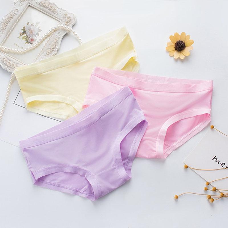 Seamless Breathable Woman Underwear Plus Size Seamless Panties Lace Cotton Under Wear Briefs Underpants Transparent Lingerie