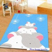 100 130cm Soft Carpet Lion Stars Carpet For Kids Floor Mat Hallway Area Rugs Living Room