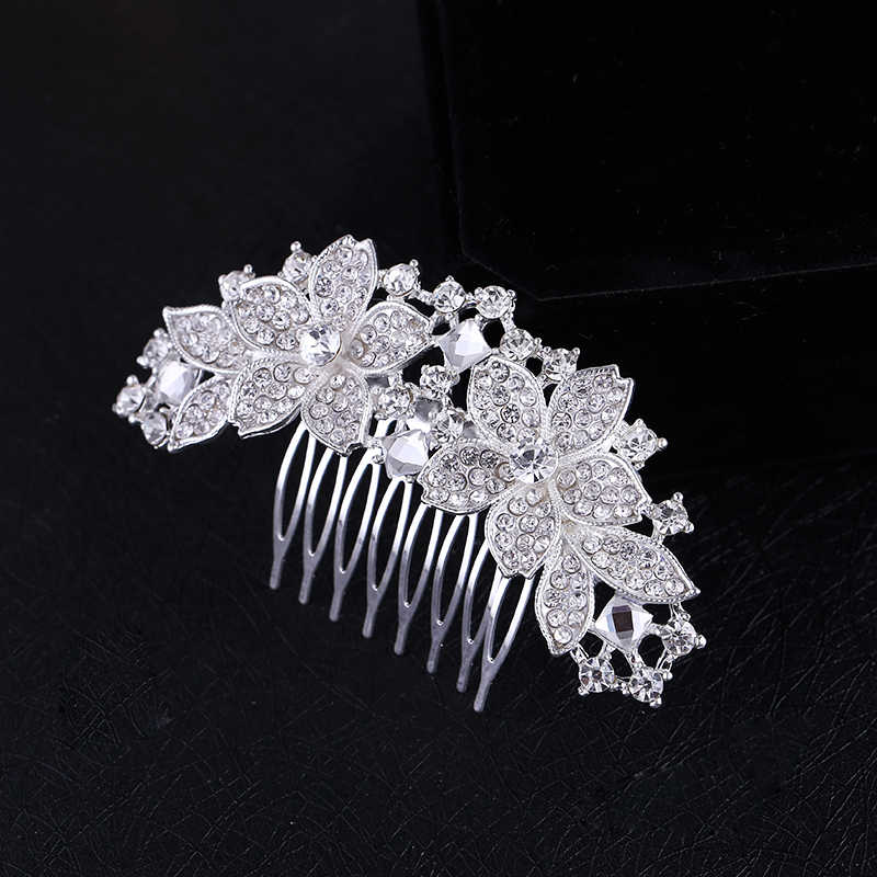 Detail Feedback Questions about Women Bridal Wedding Silver Crystal  Diamante Rhinestone Flower Hair Comb Hair Accessories Headwear Bride Tiara  HOT Sale on ... cda5916d3141
