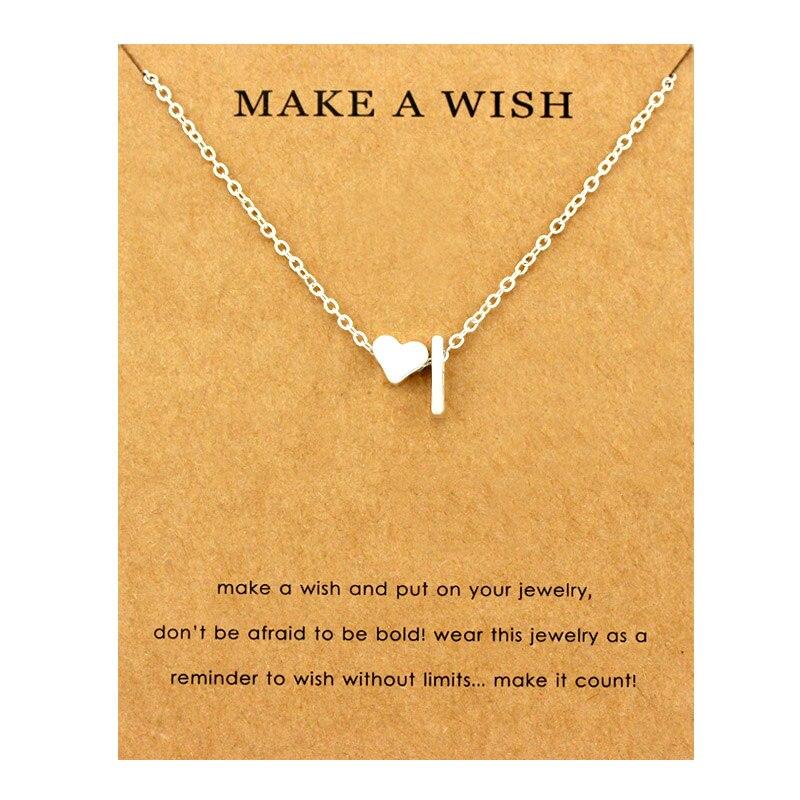 Сердце начальные Подвески ожерелье s персонализированное ожерелье с буквами Имя ювелирные изделия для женщин мужчин аксессуары подруги любовника пара подарок - Окраска металла: NE1663