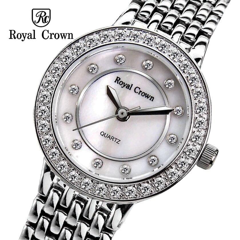 ФОТО Royal crown Ladies Wrist Watch Quartz Hours Best Fashion Dress Bracelet Band Brass 18K Gold Plated Luxury Rhinestones CZ 3650
