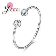 Genuine Fine 925 Sterling Silver Charming Jewelry Bracelet Bangles Women Fashion Accessories Factory Price Free Shipping(China)