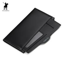 WILLIAMPOLO Genuine Leather Slim Wallet Bofold Wallet Handmade 10 Card Holder Case Purse PL221