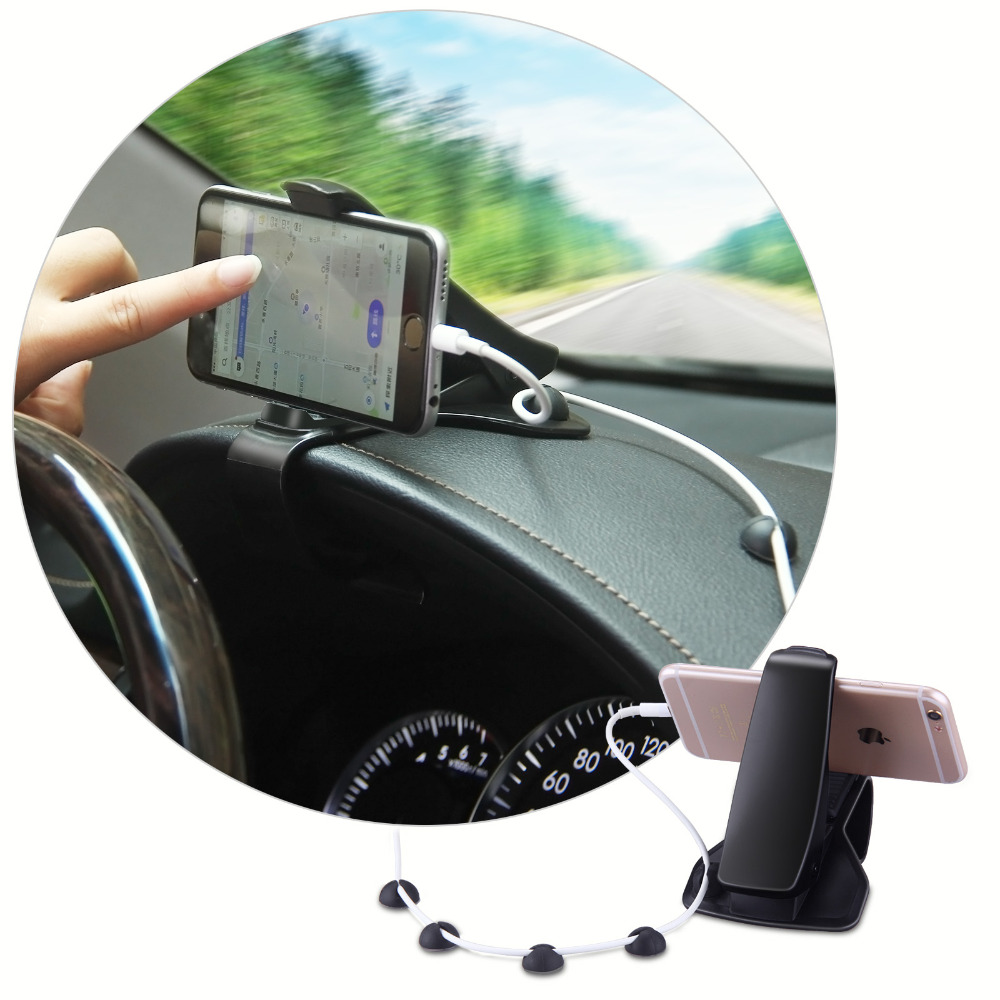 Auto Car Mount Holder Clip Adjustable Mobile Phone Holder 3.0- 6.5 For iPhone 7 7Plus 6s 6 Plus for Huawei Xiaomi HTC Devices ulanzi iron man aluminum universal phone mount holder stand clip tripod mount adapter for iphone 7 7 plus android smartphone