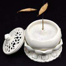 Dai Yutang ceramic Lotus flower fragrance incense ornaments Buddhist Zen Buddha stick insert/stove