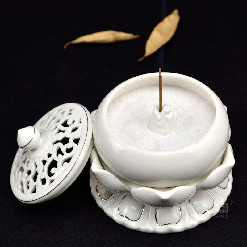 Dai yutang керамические цветок лотоса ароматические благовония украшения Буддизм дзен Лотос Будда ладан вставка/плита