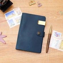 prawdziwej liści Handmade Notebook