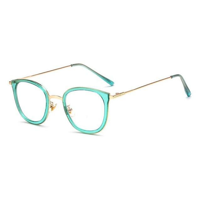 Vintage Eye Glasses Frames Solid Metal Retro Glasses Frame Steel ...