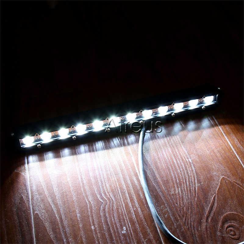Atreus 1x19 inch 54 w baris dipimpin bar cahaya 12 v drl mobil untuk ATV 4X4 Truk Trailer 4WD Offroad Mengemudi Kabut Lampu mobil aksesoris