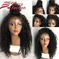 Deep Curl Full Lace wig Virgin Brazilian Hair Glueless Full Lace Human hair wigs with baby hair lace front wig for black women