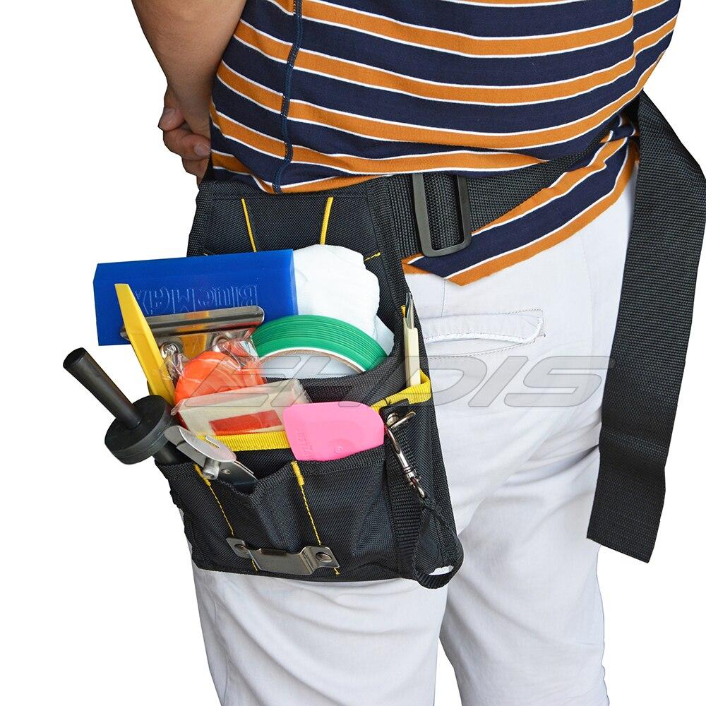 EHDIS Vinyl Tool Kit Bags Car Wrap Film Tool Belt Bag Pouch Utility Gadget Waist Waterproof Bag Oxford Multi Pocket Bag CN032 цена 2017