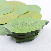 Creative paper stickers  simulation green leaves leaves convenient paste memo pads stationary school office supplies
