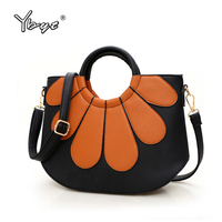 YBYT Brand 2016 New Fashion Vintage Patchwork Shell Bags Hotsale Ladies Round Handle Handbags Shoulder Messenger