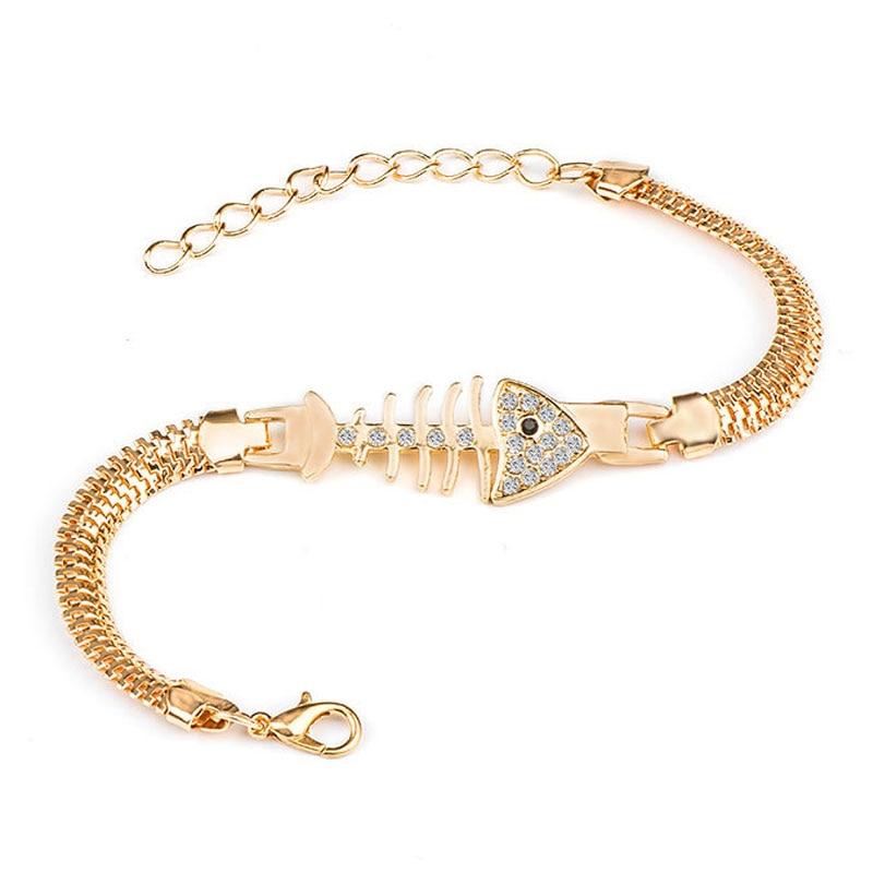 QCOOLJLY Female Jewellry Accessories Multi-Designs Gold Color Alloy Crystal & Rhinestone Flash Cuff Chain wrap bracelet Bangle 5