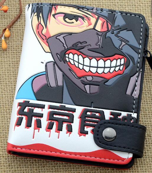 Cartoon wallet Tokyo Ghoul lot of style zipper buckle short wallet for anime fans 2017