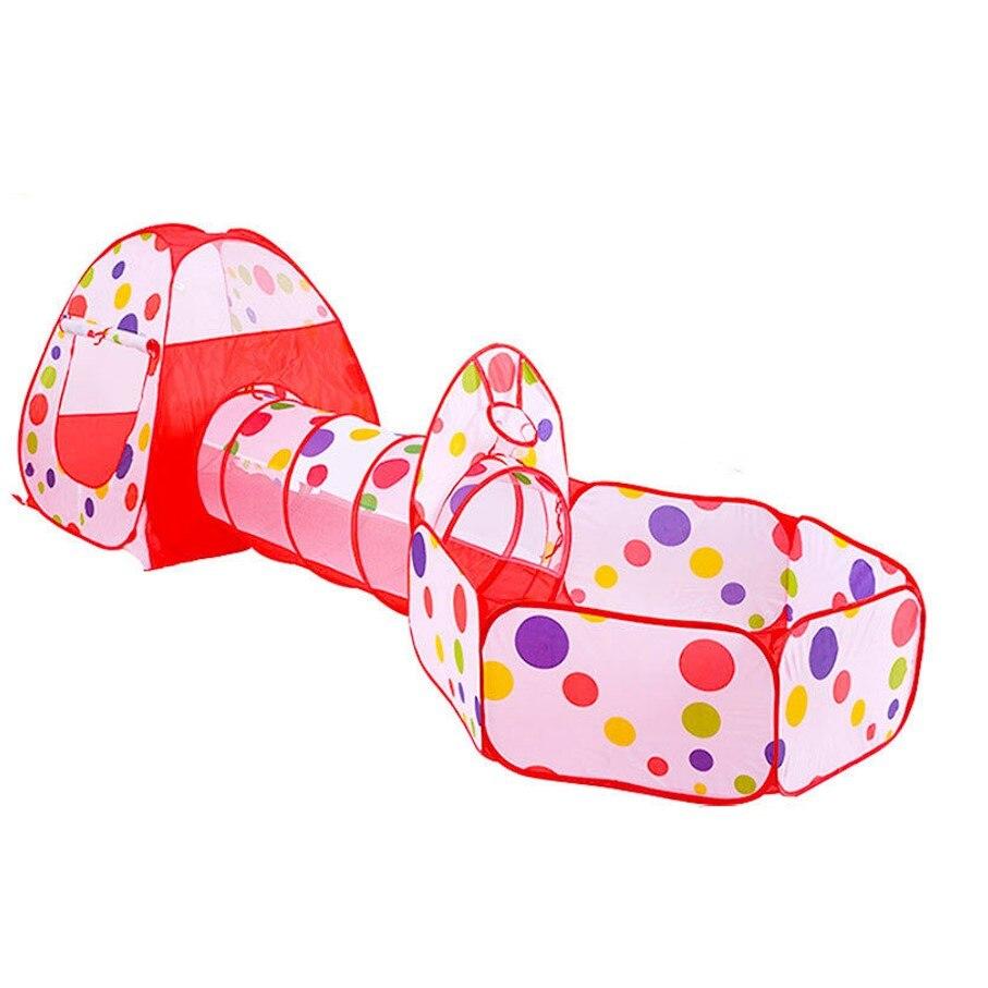 Mignon rose pliable jouet ramper tunnel tente bébé balle piscine tente pour enfant enfants jouer maison océan balle tentes facile Babysitter