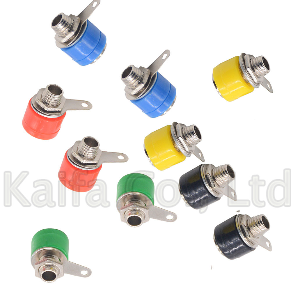 5 Color 4mm Banana Binding Post 4mm Banana Socket Plug Adapter DIY Red Green Yellow Black Blue