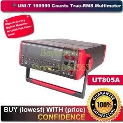 UNI T UT805A 199999 liczy wysoka   możesz o nich nadmienić true RMS LCD blat ławki multimetr cyfrowy Volt Amp Ohm pojemność Hz Tester w Mierniki wielofunk. od Narzędzia na