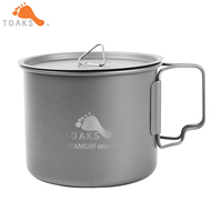 TOAKS 3in1 550ml Ultralight Titanium Pot Outdoor Camping Titanium Bowl Titanium Cup