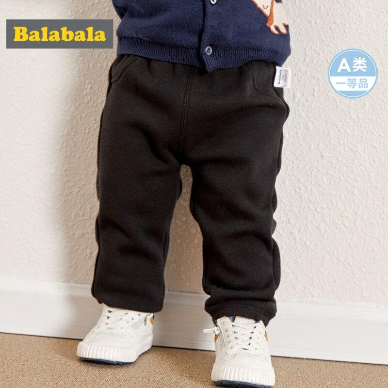 Balabala Infant Baby Junge Mädchen Fleece-gefüttert Druck Pull-auf Hosen Neugeborenen Baby Pp Hosen Jogger Hose Elastische Taille Mit Taschen Um Eine Reibungslose üBertragung Zu GewäHrleisten