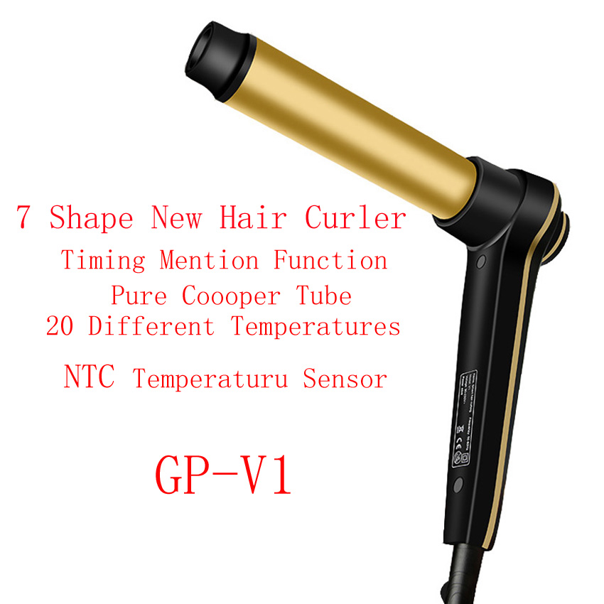 Купить с кэшбэком Hair Curling Iron with Even Heat V1 24K Gold Plated Long-lasting Curls & Digital Accuracy Temperature Display Hair Curler Wand