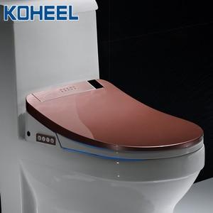 Image 5 - KOHEEL bathroom smart toilet seat cover electronic bidet clean dry seat heating wc gold intelligent led light toilet seat