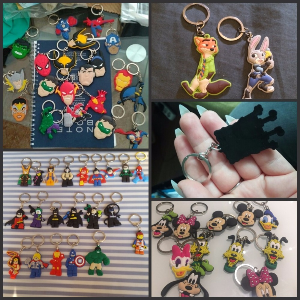 100pcs lot Mix Style Random PVC Cartoon Key Chain Key Ring Children Anime Figure Keychain Key Holder Kid Toy Pendant Trinket in Key Chains from Jewelry Accessories