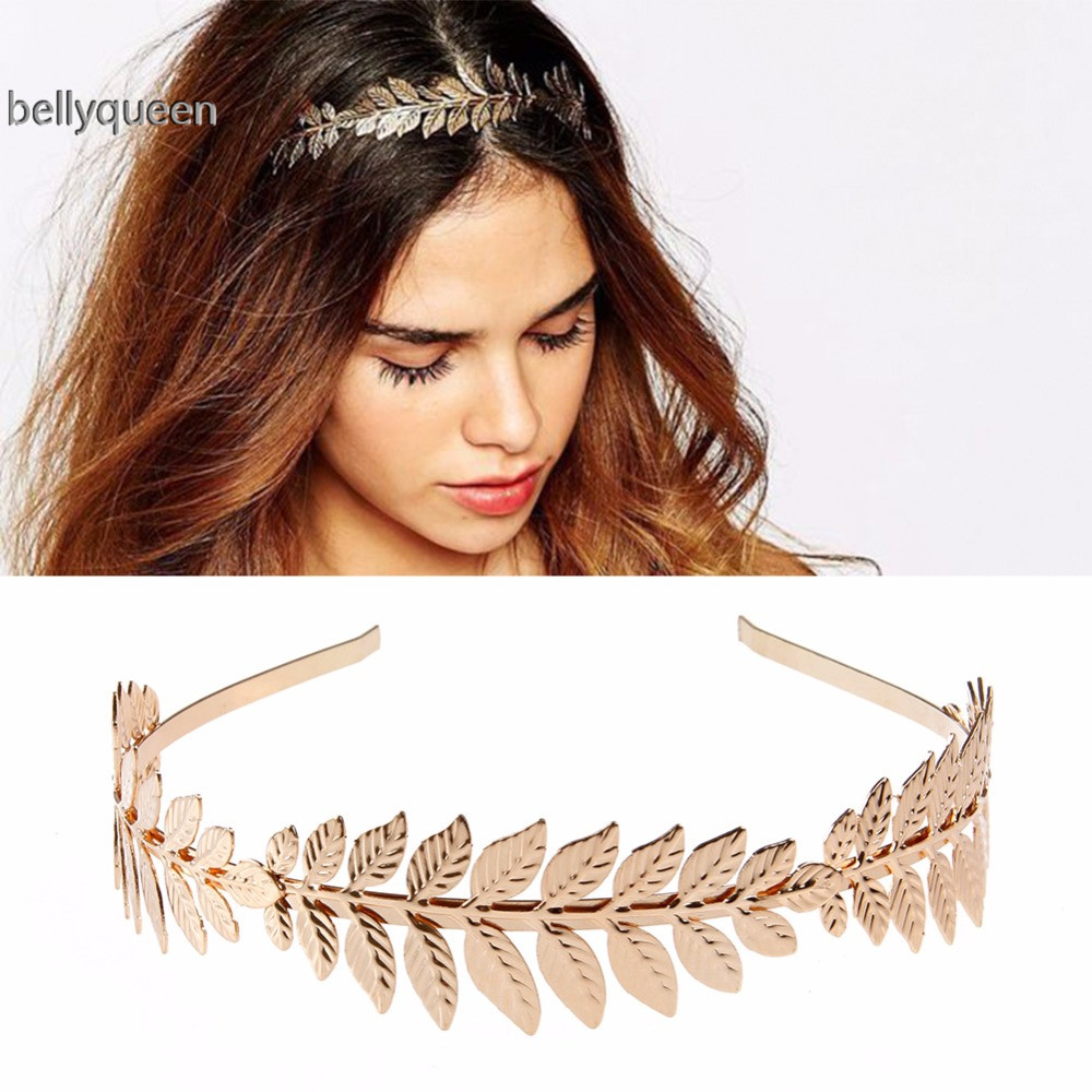 Women Olive Leaf Hair Accessories Headbands for girls Hair Hoop Crown Goddess Wedding Chic Fashion Beautiful Gift Kopfband chifres malevola png