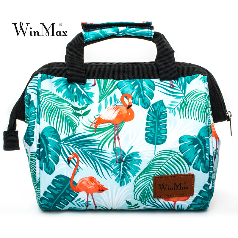 Double Decker Cooler Lunch Bags for Women Print Thermal Insulated Lunchbox Multifunction Food Picnic Bag Travel Storage Icepack sannen 7l double decker cooler lunch bags insulated solid thermal lunchbox food picnic bag cooler tote handbags for men women