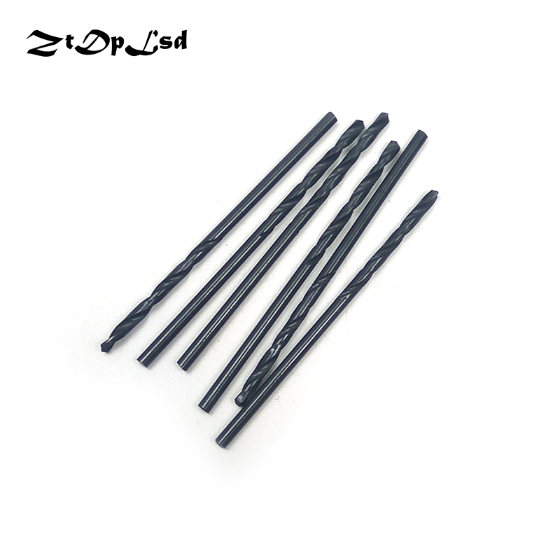 ZtDpLsd 6Pcs 1mm 2mm HSS Twist Drill Bit Carbon Steel Material Manual Black Coated Woodworking DIY Wood Metal Drill Foret Metaux