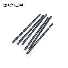 ZtDpLsd 6 pièces 1mm 2mm HSS Foret hélicoïdal en acier au carbone matériel manuel noir enduit bois bricolage bois métal Foret Metaux