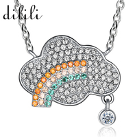 DILILI Fashion Colorful Crystal Necklaces Pendants For Women Cloud Elephant Friendship Chain Necklace Lights Femme Jewelry